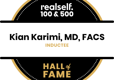 Dr. Karimi Inducted in the RealSelf 100 & 500 Hall of Fame